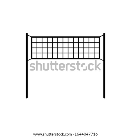 Volleyball Net, Sport Net, Vector Art Illustration