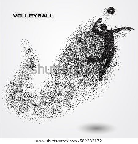 volleyball player of a