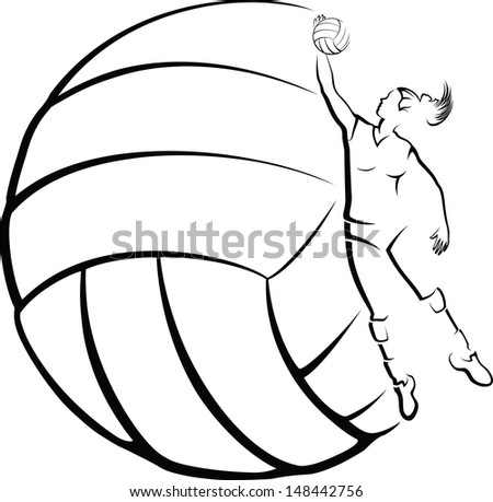 volleyball player with
