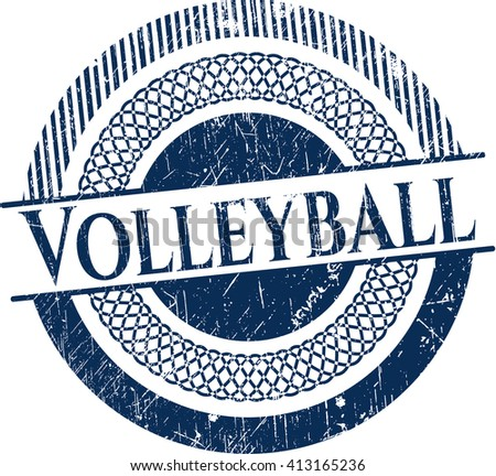 Volleyball rubber grunge texture stamp