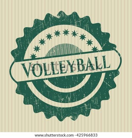 Volleyball rubber grunge texture stamp