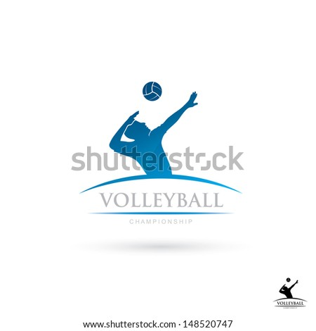 Volleyball sign vector illustration