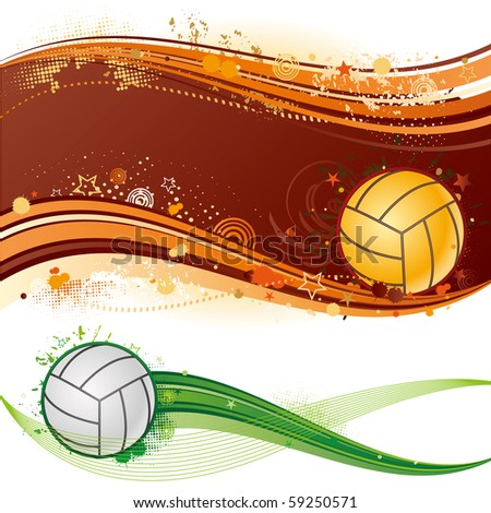 volleyball sport design element, abstract background