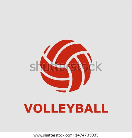 Volleyball symbol. Outline volleyball icon. Volleyball vector illustration for graphic art.