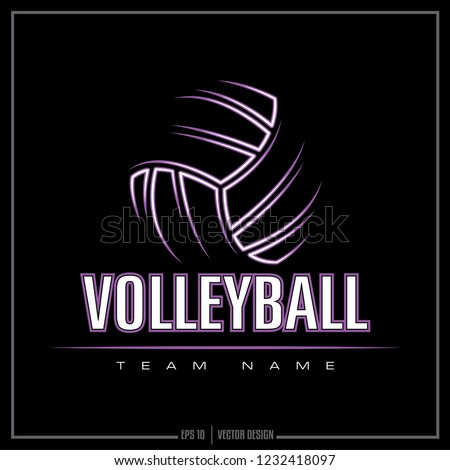 Volleyball team logo, sports design, American volleyball