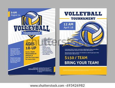 volleyball tournament posters