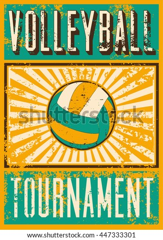 volleyball typographical