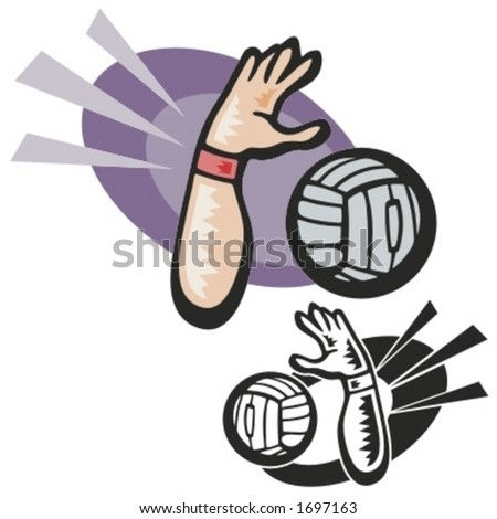Volleyball vector illustration. - stock vector