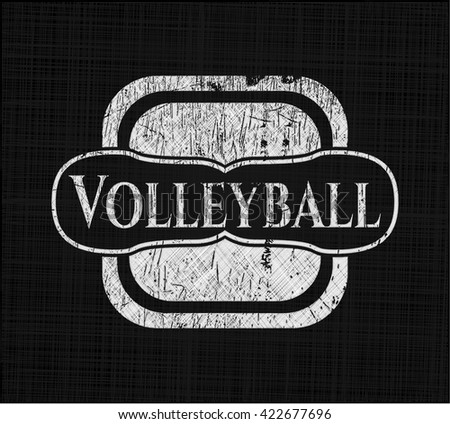 Volleyball with chalkboard texture