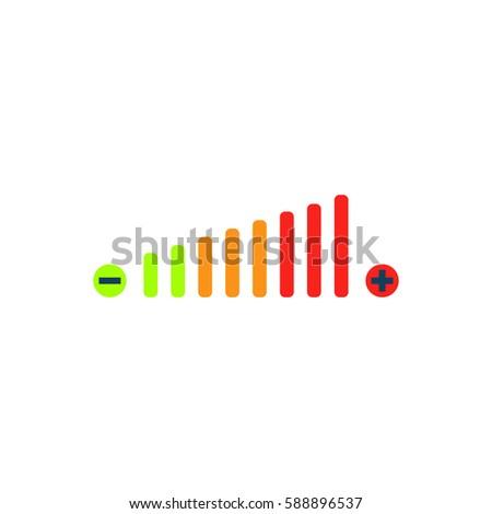 volume adjustment color symbol