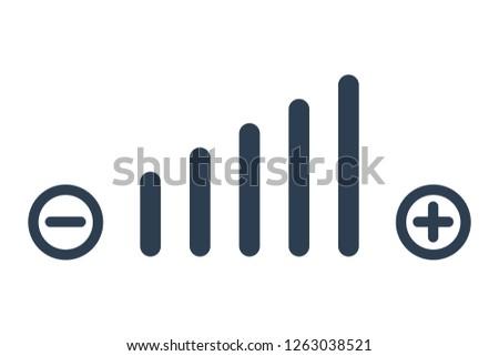 Volume adjustment symbol web icon. Volum icon vector