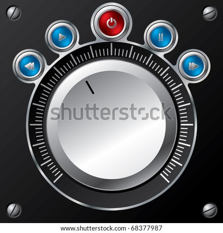 Volume control design with led buttons