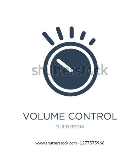 volume control icon vector on white background, volume control trendy filled icons from Multimedia collection, volume control vector illustration