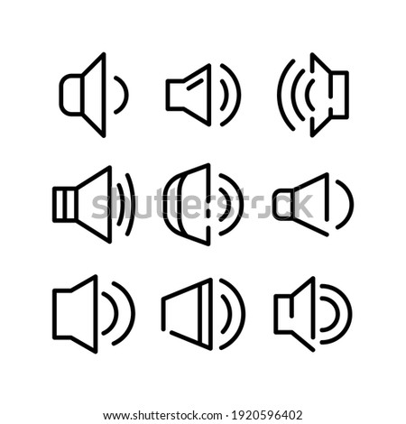 volume icon or logo isolated sign symbol vector illustration - Collection of high quality black style vector icons  Foto stock ©