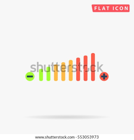 volume icon vector flat color