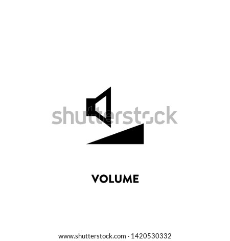 volume icon vector. volume sign on white background. volume icon for web and app