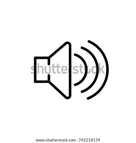 Volume icon, Volume icon vector, in trendy flat style isolated on white background. Volume icon image, Volume icon illustration