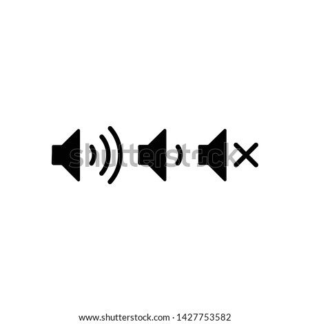 Volume icons isolated for web and mobile.Volume up, volume down, volume low icons for web and mobile.Speaker vector icon.Sound buttons.