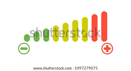 Volume levels icon, vector illustration
