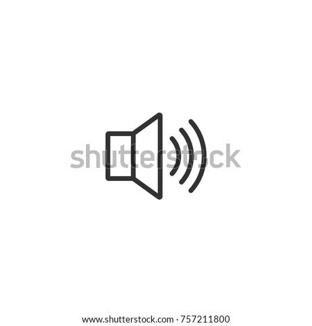 volume, linear icon
