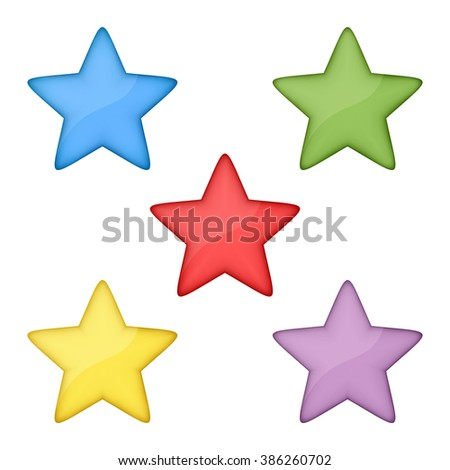 volume multicolored stars set