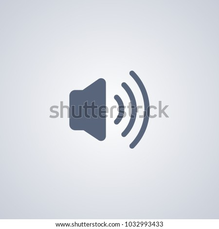 Volume of sound flat icon on gray background