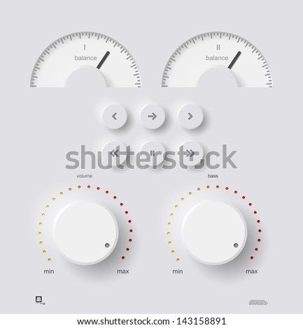 volume panel  vector