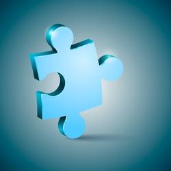volume piece of puzzle blue