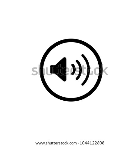 Volume up button flat icon vector