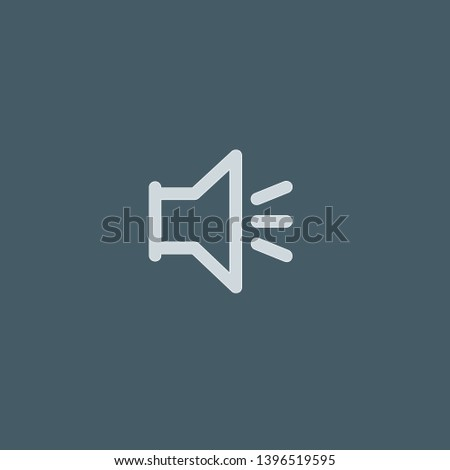 Volume vector icon. Volume concept stroke symbol design. Thin graphic elements vector illustration, outline pattern for your web site design, logo, UI. EPS 10.