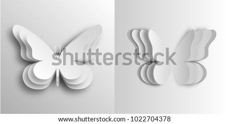 volumetric butterflies in paper