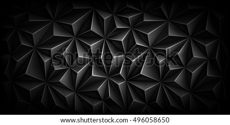 volumetric polygonal black