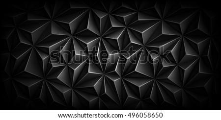 stock-vector-volumetric-polygonal-black-pattern-vector-luxury-abstract-grey-background-dark-horizontal-modern