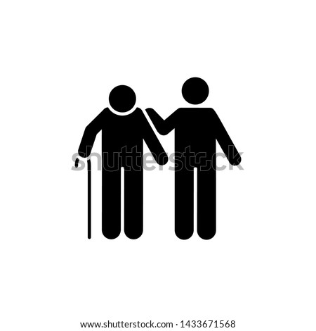 Volunteer, man, help, old man icon. Element of volunteer pictogram icon