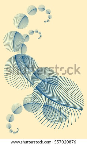 volutes of round feathers