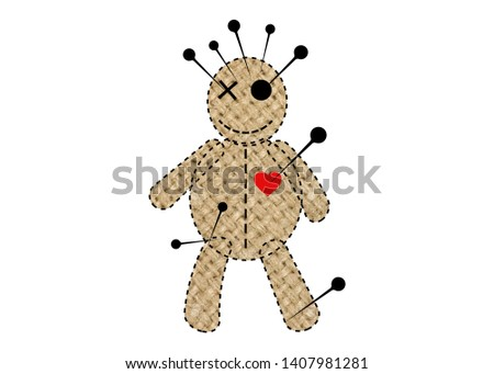 Voodoo Doll Illustration - Download Free Vectors, Clipart