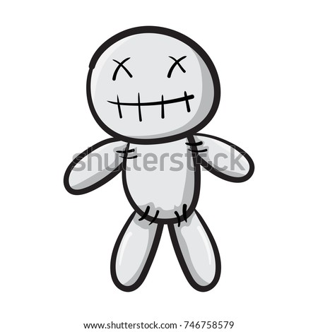 voodoo doll isolated