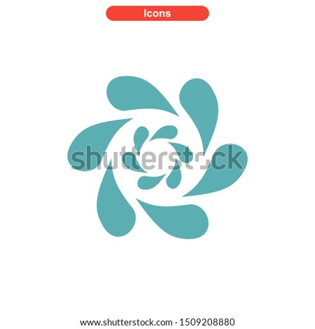 vortex icon isolated sign