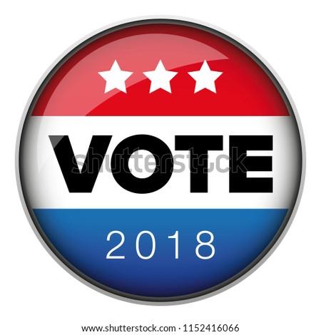 Vote badge button usa