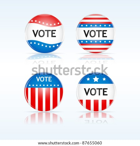 Vote badges - stock vector