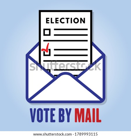 Vote by mail icon or sign. Vector illustration.