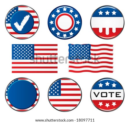 Vote Icon Set. Easy To Edit Vector Image.