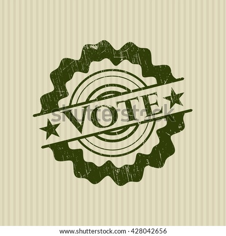 Vote rubber stamp with grunge texture