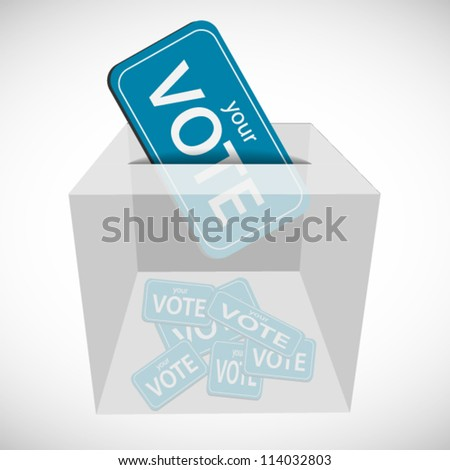 Vote ticket inserted to box with other ticket