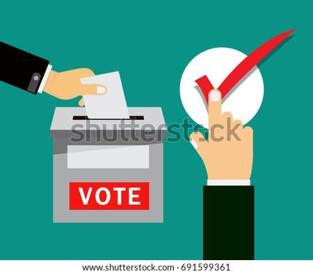 Vote title button, votes concept. vector