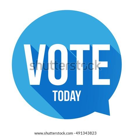 Vote Today sign speech bubble Stock photo ©