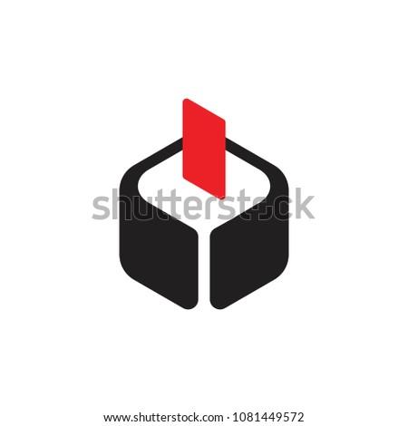 voting box symbol logo vector