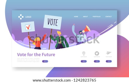 Character illustration of people with vote icons - Download Free