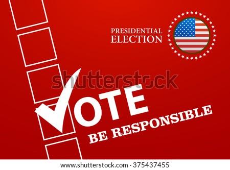 Voting Symbols design presidential election vector illustration