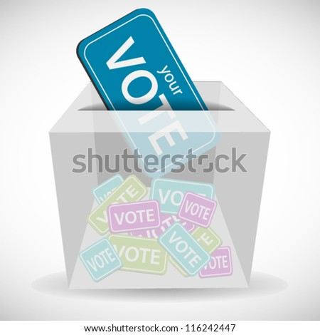 Voting ticket inserting to box